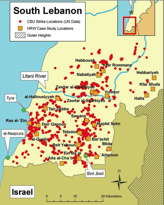 Maps related to Israel-Lebanon War, 2006 - Just World