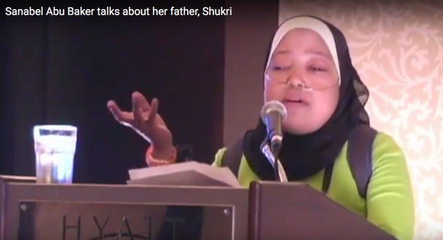 Sanebl Abu-Baker speaks to her father