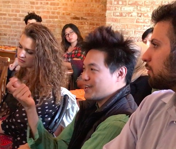 Audience at Build Coffee, Chicago, 1, portrait