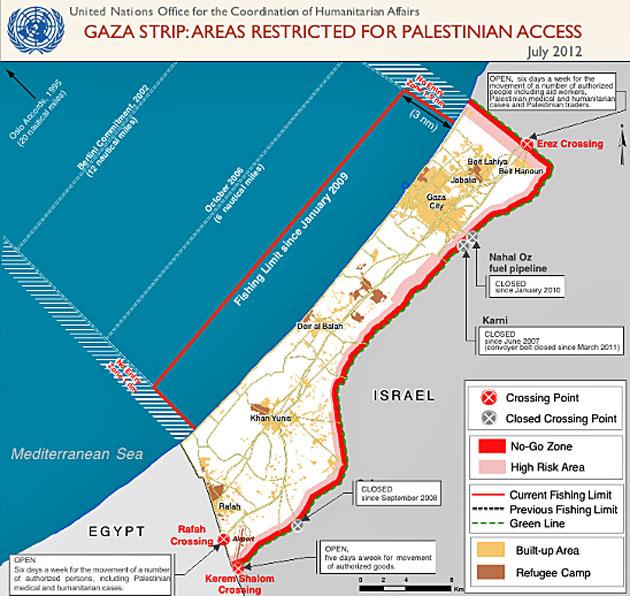UN map Gaza - Just World Educational